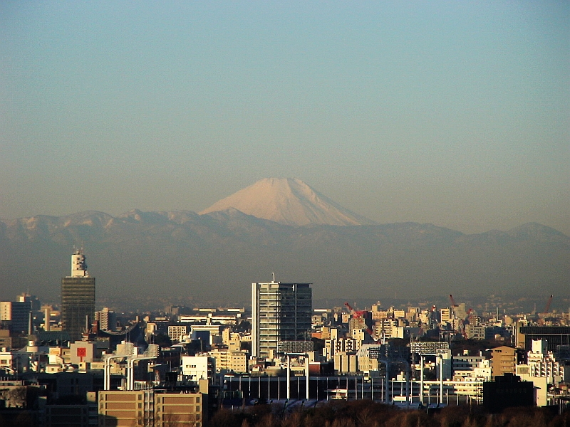 Mt. Fuji from the New Otani Hotel